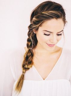 3 Easy Summer Braids to Try This Weekend via @ByrdieBeauty - Looking for Hair Extensions to refresh your hair look instantly? @KingHair focus on offering premium quality remy clip in hair.