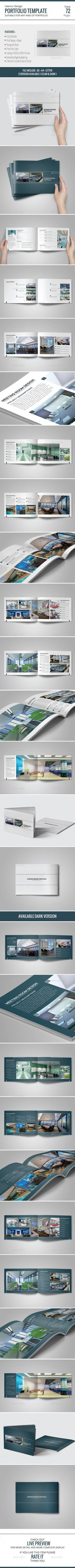 Interior Design Portfolio Template InDesign INDD O Available Here