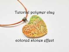 FIMO tutorial polymer clay colored stones ENGLISH