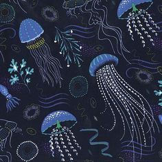 jelly fish blue
