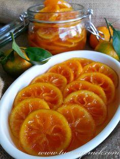 TUANA MUTFAK: MANDALİNA REÇELİ Orange Recipes, Fruit Recipes, Cooking Recipes, Dessert Recipes, Healthy Recipes, Nutella, Turkish Recipes, Healthy Eating Tips, Perfect Food