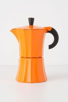 Modern tangerine coffee pot from anthropologie