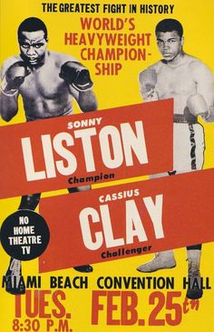 Vintage boxing poster.