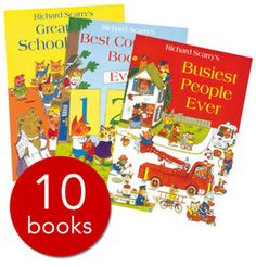 Richard Scarry's endearing tales and captivating illustrations have been entertaining young readers for generations and now children can immerse themselves in his unique world with these ten exciting picture books.
