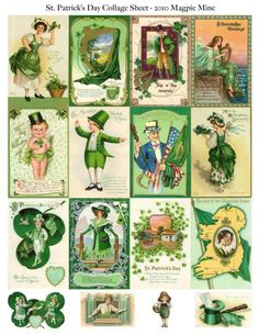 Instant Download  St. Patricks Day Digital Collage by MagpieMine