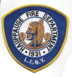 Hauppauge Long Island LI NY New York Fire Dept. patch - NEW! *INDIAN*