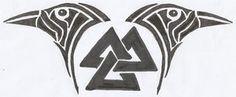 Huginn and Muninn Valknut Tattoo Design by ravynkatt