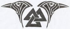 Huginn and Muninn Valknut Tattoo Design by ravynkatt