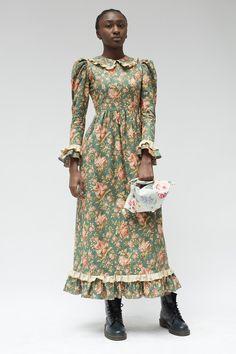 Batsheva - Teal Long Prairie Dress - is-sit tiegħi 80s Fashion, Modest Fashion, Look Fashion, Girl Fashion, Fashion Dresses, Vintage Fashion, Womens Fashion, Fashion Tips, Ladies Fashion