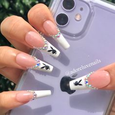 Acrylic Nail Designs Coffin, Long Square Acrylic Nails, Purple Acrylic Nails, Acrylic Nails Coffin Short, Summer Acrylic Nails, Best Acrylic Nails, Ballerina Acrylic Nails, Coffin Nails, Edgy Nails