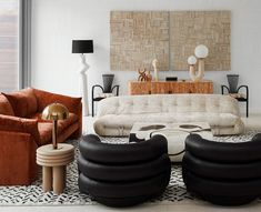 Modern Sophisticated Meets Kelly Wearstler In The — Modern Home Tour - Hipster Home Decor Office Inspiration, Interior Design Inspiration, Home Decor Inspiration, Home Interior Design, Decor Ideas, Interior Plants, Daily Inspiration, Decorating Ideas, Living Room Designs