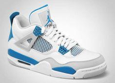 "Me gusta el modelo, pero no me los compraria, no me gusta la marca Jordan..Air Jordan 4 ""Military Blue""    love the jordan 4s Nike Air Jordans, Blue Jordans, Cheap Jordans, Retro Jordans, Air Jordan Iv, Air Jordan Shoes, Upcoming Jordans, Sneakers Nike, Jordan Sneakers"