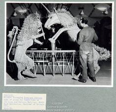 Lion and Unicorn Pavilion, South Bank Exhibition, Festival of Britain 1951.