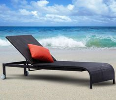 Tosh Furniture Black Wicker Chaise Lounge $791.99   www.modernchairsdirect.com