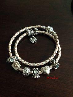 Pandora leather bracelet.
