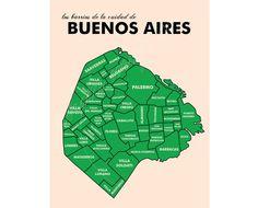 Buenos Aires Neighborhood Map. $15.00, via Etsy.