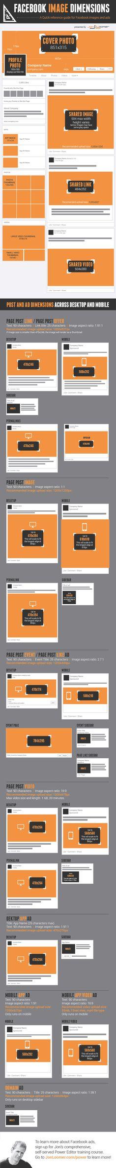 Foto: Infografía: Guía de branding para páginas de Facebook, dimensiones de imágenes   redes sociales 2 infografias 2 branding diseno