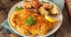 Wiener Schnitzel, Chicken Schnitzel, Chicken Cutlets, German Schnitzel, Schnitzel Recipes, Veal Cutlet, Buttermilk Chicken, Air Fryer Recipes, Food To Make