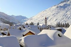 Andermatt Swiss Ski, Swiss Alps, Snowy Pictures, Places In Switzerland, Andermatt, Mountain Village, New Adventures, Holiday Destinations, Winter Wonderland