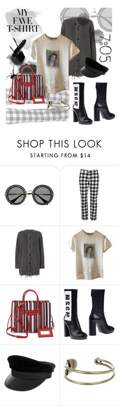 """MY FAVE T-SHIRT /// Easy Come Easy Go"" by madtrr ❤ liked on Polyvore featuring Miu Miu, Victoria, Victoria Beckham, Garance Doré, Alexander Wang, Dolce&Gabbana, Balenciaga, MSGM, Manokhi and Diesel"