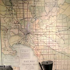 Melbourne train and tram map with sections of Outer Circle, Kew, Port Melbourne and St Kilda lines open Transport Map, Public Transport, Melbourne Map, Transportation Engineering, St Kilda, Old Maps, Vintage Maps, Archive, Bebe