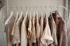 I love clothing racks like this one.