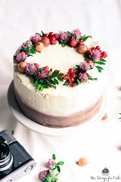 black white chocolate summer cake