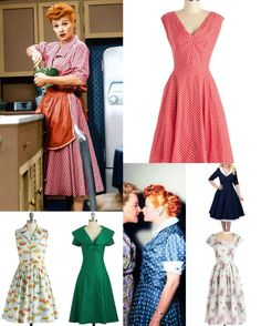 Click through to see all of the classic styles inspired by the always funny and glamorous Lucille Ball!