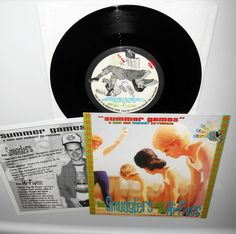 """the SMUGGLERS / the HI-FIVES split 7"""" Vinyl Record , lookout records #129 #punkPunkNewWave"""