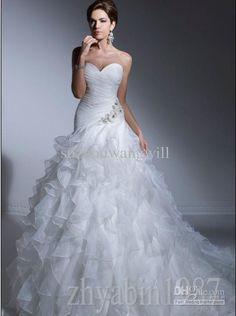 Wholesale 2013 cute theme allure chiffon custom color size belt for plus size crystal wedding dress corset wedding dress, Free shipping, $168.0/Piece | DHgate