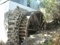 Watermill at McGregor Cape, a small village in the mountains of the Western Cape, South Africa Old Bridges, Water Wheels, Water Powers, Water Mill, Old Buildings, Milling, Windmills, Lighthouses, Barns
