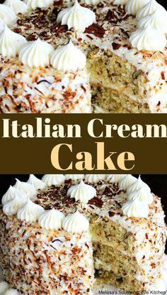 italian cream cake recipe italian cream cake recipe cream cake recipe : italian cream cake recipeitalian cream cake recipe : italian cream cake recipe Moist, flavorful, simple and delicious, thi Italian Cream Cakes, Italian Cake, Italian Cream Cake Recipe Easy, Dessert Oreo, Pumpkin Dessert, Citrus Cake, Cake Recipes, Dessert Recipes, Picnic Recipes