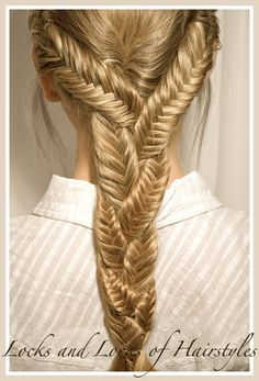 Braided Hairstyles: 3 fish tails braided