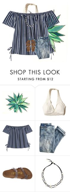 """""""birkenstock contest!"""" by preppy-southerngirl ❤ liked on Polyvore featuring Hollister Co., J.Crew and Birkenstock"""
