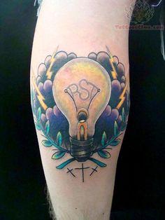 LightBulb Tattoo On Arm