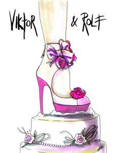 SHOE ILLUSTRATION :: Viktor  Rolf - Wacky Fashion Shoe Illustrations by Achraf Amiri