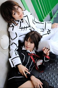 Cosplay is a big part of Japans fashion its a play on word of costume and play and is when people dress up as characters from anime,manga,movies,comics,video games and various other things these two are dressed as Yuki (girl) and Kaname(boy) from the popular anime and manga Vampire Knight