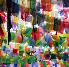 Tibetan prayers flags
