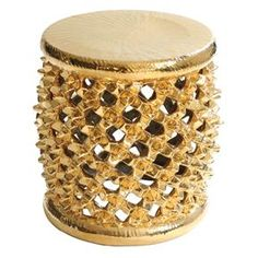 Gold Spider's Nest Stool  by Tucker Robbins