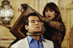 Irish actor Pierce Brosnan stars as 007 opposite French actress Sophie Marceau as Elektra King in the James Bond film 'The World Is Not Enough' In the scene, Elektra uses an antique device to. Get premium, high resolution news photos at Getty Images Pierce Brosnan, James Bond Girls, James Bond Movies, Sean Connery, Roger Moore, Daniel Craig, Tim Burton, Vogue Paris, Joe Don Baker