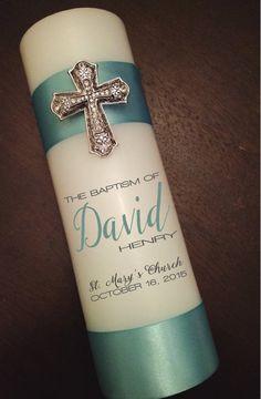 Personalize Custom light blue boy Baptism by littledivashoppe