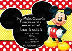 Ninja Warrior Printed Birthday Invitations Mickey mouse