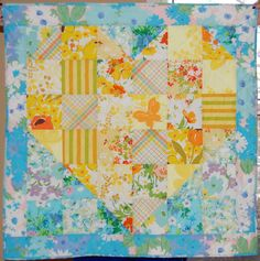 Sweet Vintage Heart Baby Quilt | FaveQuilts.com