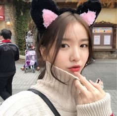 Korean Ulzzang, Ulzzang Girl, Korean Girl, Idol, Winter Hats, Kawaii, Wattpad, Photo And Video, Cute