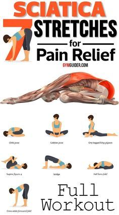 8 Sciatica Stretches That Prevent and Relieve Hip and Lower Back Pain Sciatica Pain Relief, Sciatic Pain, Hip Pain Relief, Lower Back Pain Relief, Sciatica Exercises, Back Exercises, Yoga For Sciatica, Exercises To Strengthen Back, Sciatica Stretches Pregnancy