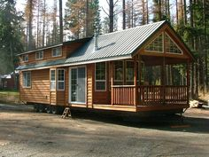 Big FULL Size Cabin with Full Size Appliances with PORCH and LOFT on WHEELS. HEAVEN!!