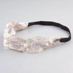 FULL TILT Lace Pearl/Rhinestone Headband