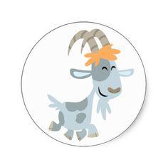 Cartoon Goat T-Shirts, Cartoon Goat Gifts, Art, Posters, and Cartoon Drawings, Cute Drawings, Animal Drawings, Goat Cartoon, Goat Gifts, Goat Art, Animal Templates, Sheep Crafts, Cute Goats