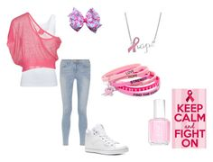 """Breast Cancer Awareness"" by kristinabedn ❤ liked on Polyvore featuring Boody, Gotha, Frame, Emitations, Essie and Pastry"