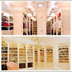 How fun would it be to shop for items to fill this closet...